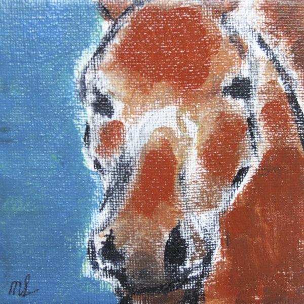 Paard-10x10cm-acryl