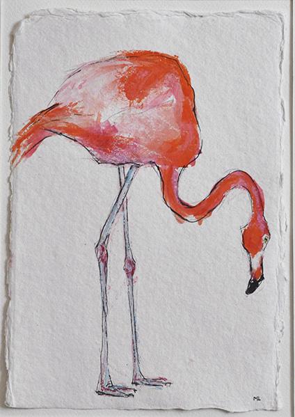 Flamingo4-20x30cm-indiapapier