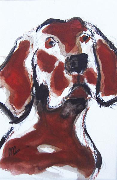 Hond-10x15cm-mixedmedia