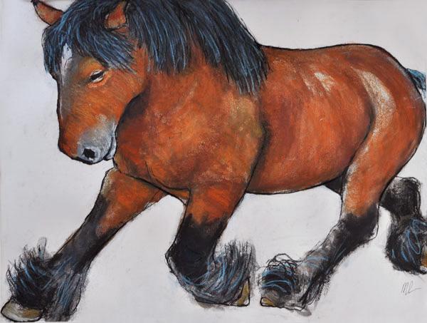Paard-50x65cm-mixedmedia