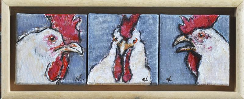 Chickenselfies1-10x30cm-acryl