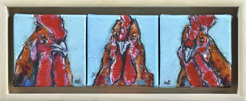 Chickenselfies3-10x30cm-acryl